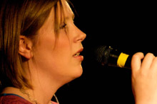Rebecca Hardie sings at a Praise Night in 2009. Photo by Kyle Usher
